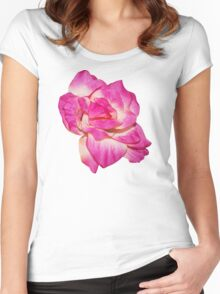 Flower - beautiful pink gift Women's Fitted Scoop T-Shirt