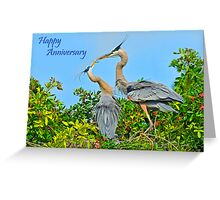 Blue Herons Greeting Card
