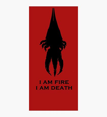 I'm fire, i'm death! cit. Reapier! Photographic Print