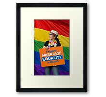 Marriage Equality rally in Honolulu .5 Framed Print