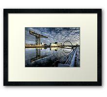 River Clyde reflected Framed Print