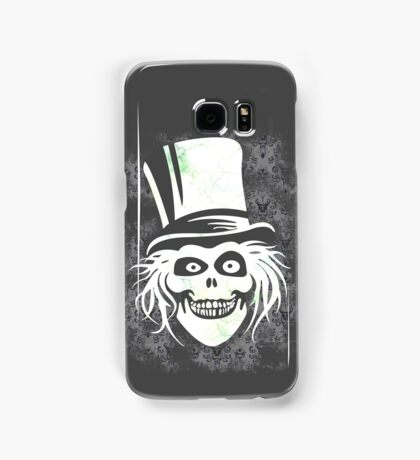 HATBOX GHOST WITH GRUNGY HAUNTED MANSION WALLPAPER Samsung Galaxy Case/Skin
