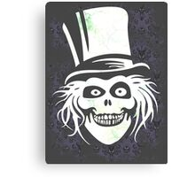 HATBOX GHOST WITH GRUNGY HAUNTED MANSION WALLPAPER Canvas Print