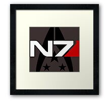 N7 Mass Effect, Alliance of the systems Framed Print