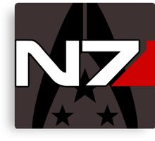 N7 Mass Effect, Alliance of the systems Canvas Print