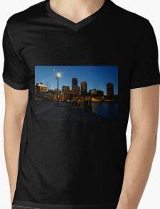 Boston Harbour Mens V-Neck T-Shirt
