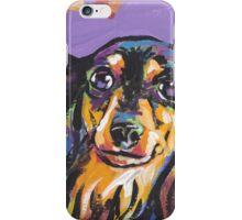 Dachshund Dog Bright colorful pop dog art iPhone Case/Skin