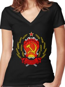 CCCP coat of arms Women's Fitted V-Neck T-Shirt