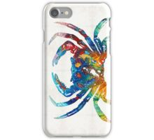 Colorful Crab Art By Sharon Cummings iPhone Case/Skin