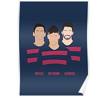 MSN - Messi Neymar Suarez - FC Barcelona Poster