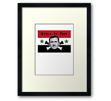 Syria Is Fine .2 Framed Print
