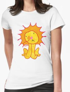 Sad Lion Womens Fitted T-Shirt