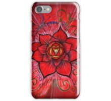 Root Chakra Red Lotus Flower iPhone Case/Skin