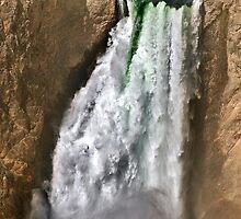 Yellowstone River At  The Lower Falls 2 by Alex Preiss