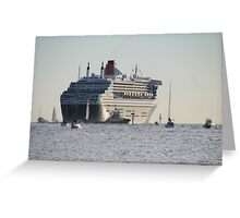 Queen Mary 2,leaving Adelaide,March,2010. Greeting Card