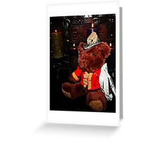 Teddy The Fireman Greeting Card