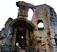 Denbigh Castle, in Denbigh, Denbighshire by artfulvistas