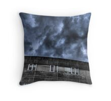 Storm at the Office Throw Pillow