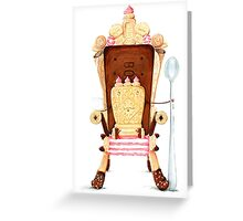 Custard Cream - King of the dunk! Greeting Card