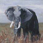 """A Rogue Elephant"" Print by jaartist29"