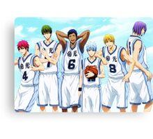 Kuroko No Basket - Generation Of Miracles (1) Canvas Print