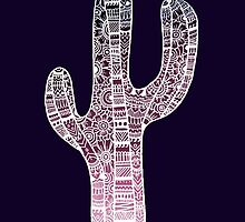 Cactus: White/Purple by MRLdesigns