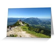 The Eagles Nest overlooking Saltzburg Greeting Card