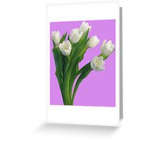 Bunch of white tulips Greeting Card