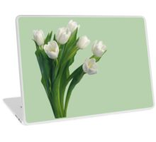 Bunch of white tulips Laptop Skin