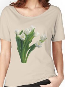 Bunch of white tulips Women's Relaxed Fit T-Shirt