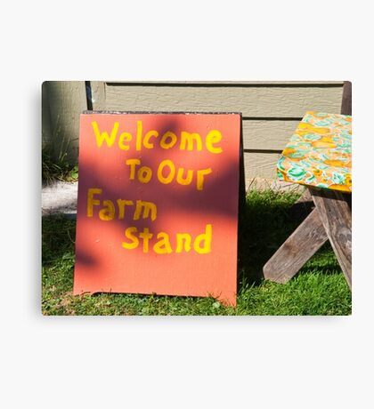 Sign Canvas Print