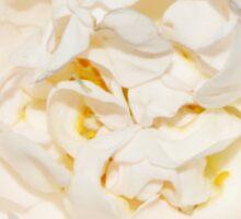 White tender rose Sticker