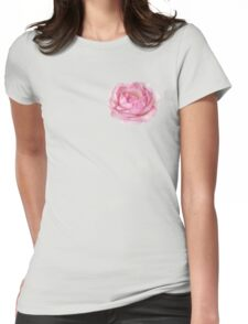 Charming pink rose Womens Fitted T-Shirt