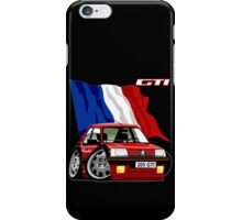 Peugeot 205 GTI caricature red iPhone Case/Skin