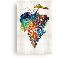 Colorful Grapes Fruit Art by Sharon Cummings Canvas Print