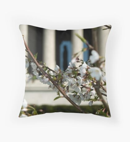 Jeffersonian Blossoms Throw Pillow