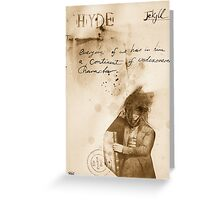 the Jekyll & Hyde notes #1 Greeting Card