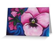 Pink Pansies Greeting Card