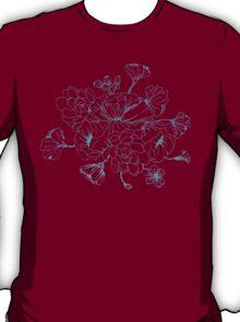 Floral Design Hand Drawn T-Shirt