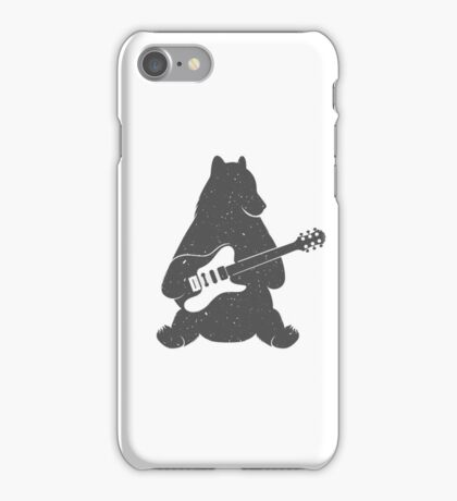 Print Bear with Electric Guitar iPhone Case/Skin