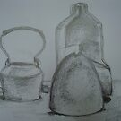 still life tone and shape study done in class by sandrarosiak