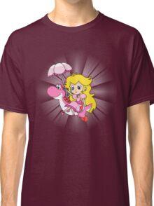 Yoshi and Chibi Peach Classic T-Shirt