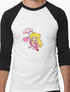Yoshi and Chibi Peach Men's Baseball ¾ T-Shirt