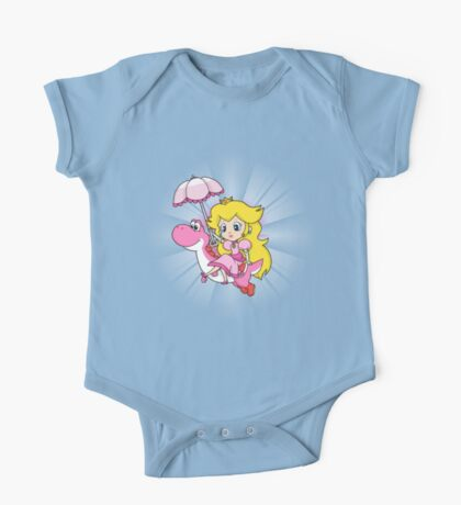Yoshi and Chibi Peach One Piece - Short Sleeve