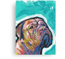 Dogue De Bordeaux Dog Bright colorful pop dog art Canvas Print