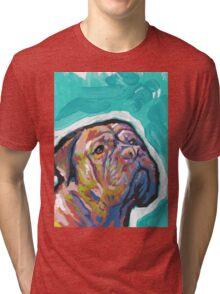 Dogue De Bordeaux Dog Bright colorful pop dog art Tri-blend T-Shirt