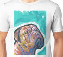 Dogue De Bordeaux Dog Bright colorful pop dog art Unisex T-Shirt