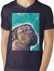 Dogue De Bordeaux Dog Bright colorful pop dog art Mens V-Neck T-Shirt