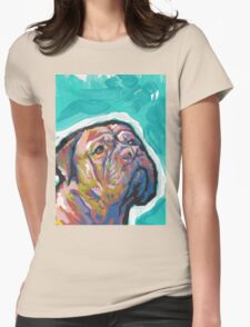 Dogue De Bordeaux Dog Bright colorful pop dog art Womens Fitted T-Shirt