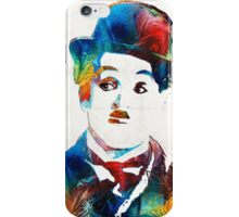 Charlie Chaplin Art - Oh Charlie - By Sharon Cummings iPhone Case/Skin